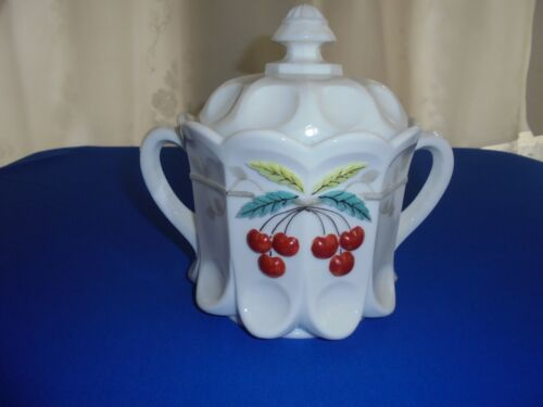 Westmoreland Cherry And Cable Cookie Jar Decorated