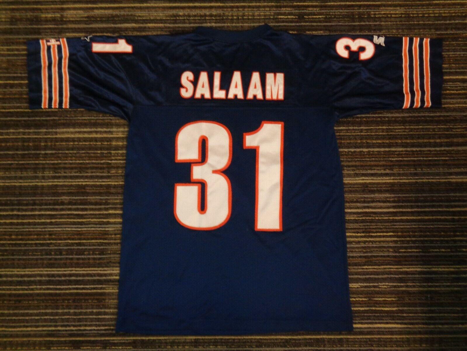 SEWN RASHAAN SALAAM 31 CHICAGO BEARS STARTER GSH MENS NFL GAME FOOTBALL JERSEY  - $29.99