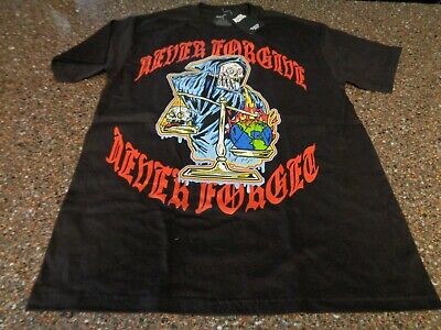 Broken Promises SS T-Shirt Large Black Never Forgive NWT Forever Means Nothing