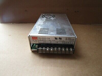 Mean Well Switching Power Supply S-320-24 S32024 100-240vac 24 Vdc Used