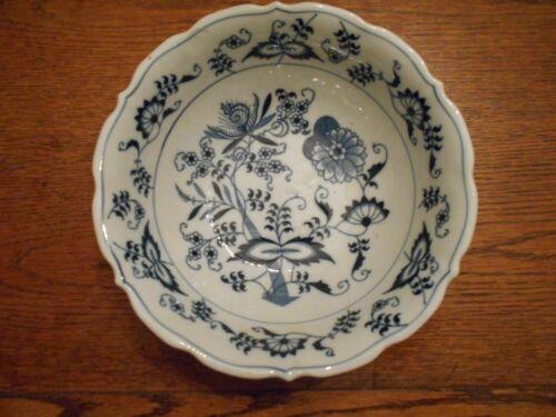 "BLUE DANUBE 9"" Round Serving Bowl Rectangle Mark Blue Onion Unused 3027"