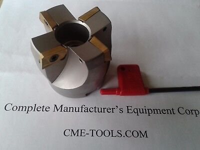 2 75 Degree Indexable Face Shell Mill Face Milling Cutter Apkt 506-75ap-20