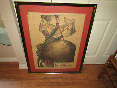 """World War One French Military Poster """" Liberte """""""