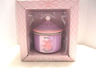 Ballerina White Trinket Box (Russ A Time To Dance Prima Ballerina Ceramic Pink White Lavender Trinket)