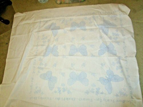 Bucilla Plaid Butterfly Collection Lap Quilt Stamped Cross Stitch panel 45x45