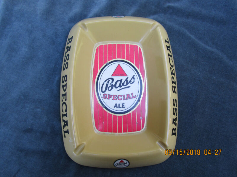 Vintage Advertising Bass Ale Beer Ashtray Melamine England Barware Smoking