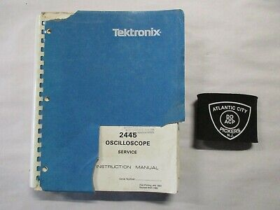 Tektronix 2445 Oscilloscope Service Instruction Manual 070-3829-00