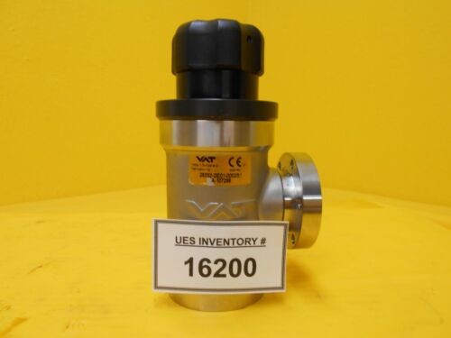 VAT 28332-GE01-0002 Manual Right Angle Vacuum Valve UHV Used Working