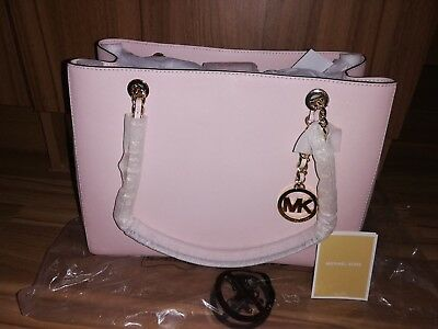 Brand New Michael Kors Large Susannah Saffiano Leather Chain Blossom Tote bag