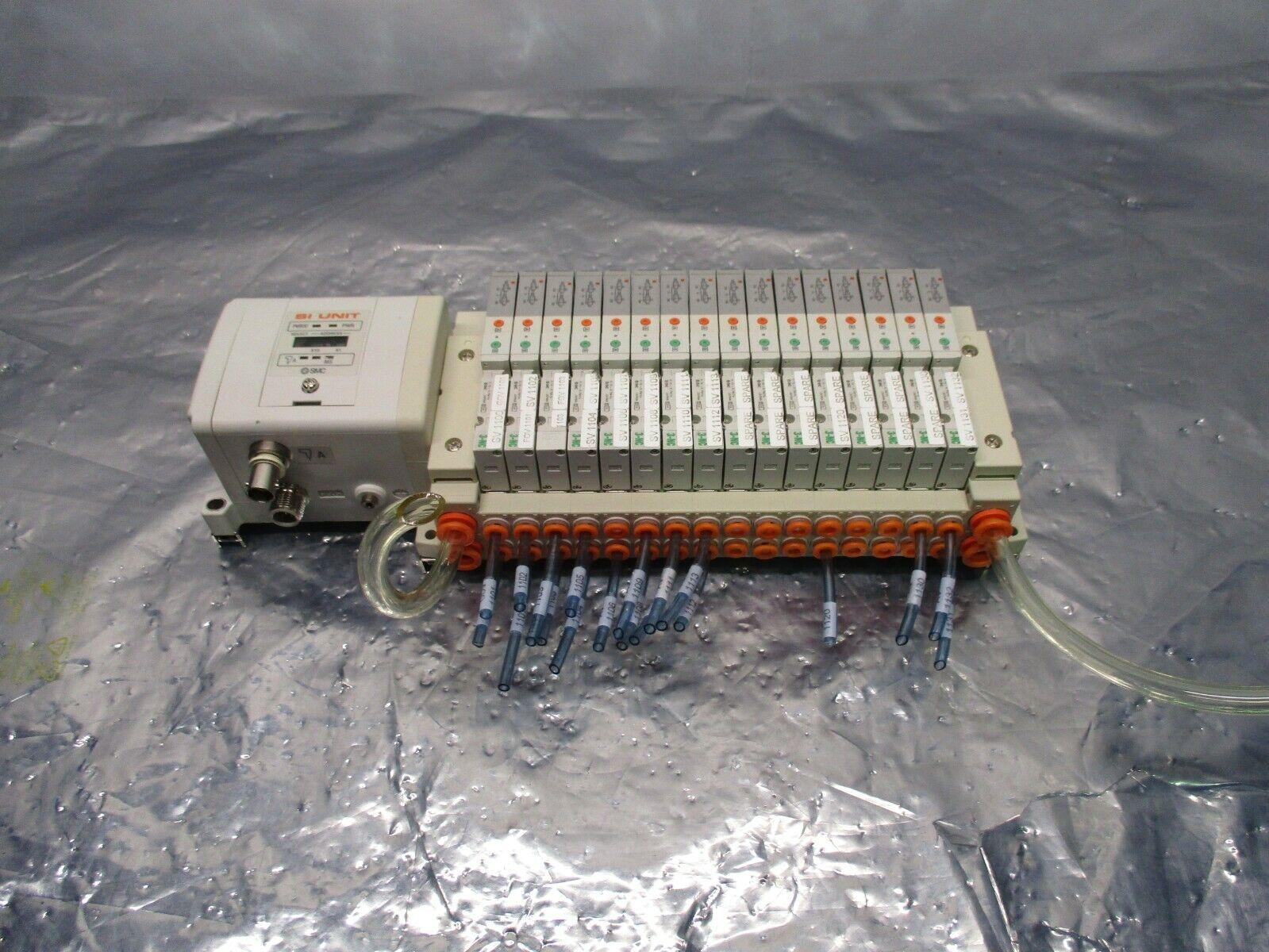 SMC SS5V1-GCJ08 16 Valve Manifold Assy w/ EX250-SCN1 Serial Interface, 100847