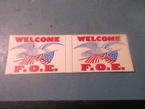 Vintage F.O.E. (Fraternal Order of Eagles) Toothpick Flag
