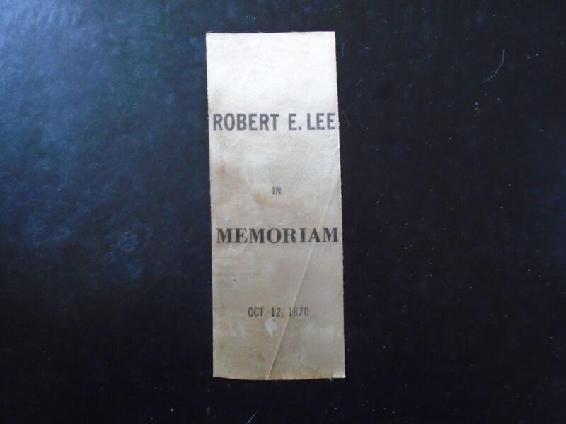 General Robert E Lee Memorial Ribbon