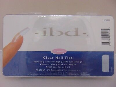 (ibd Nail Nail Tips CLEAR size 1-10 100ct/box)