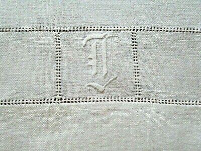 Vintage Linen Towel Monogram TJ?