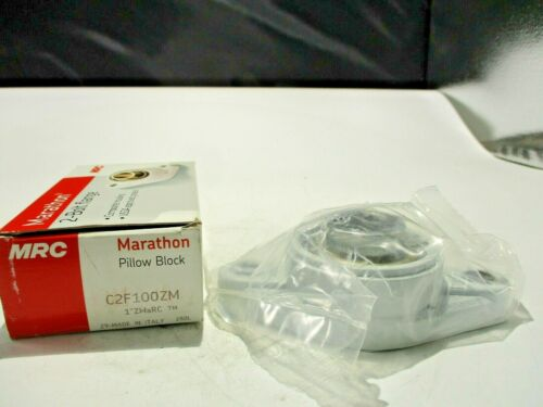 """NEW MRC C2F100ZM 2-BOLT POLYMER HAUSED THERMOSTATIC FLANGE BEARING 1""""INCH BORE"""