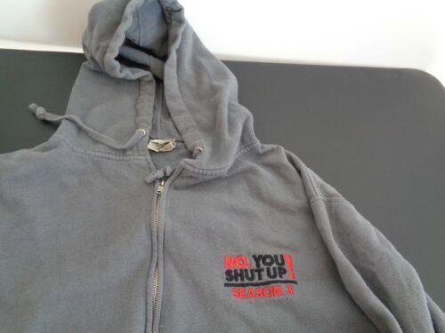 NO, YOU SHUT UP! Season 3 Three PROMO Hoodie XL Sweatshirt FUSION TV Free Ship