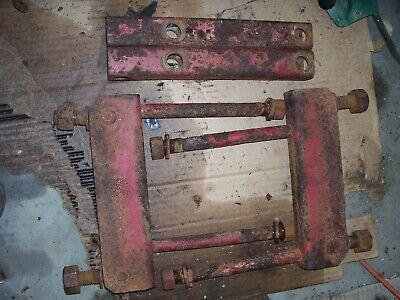 Vintage Mccormick Farmall H Tractor -drawbar Axle Brackets - 1944
