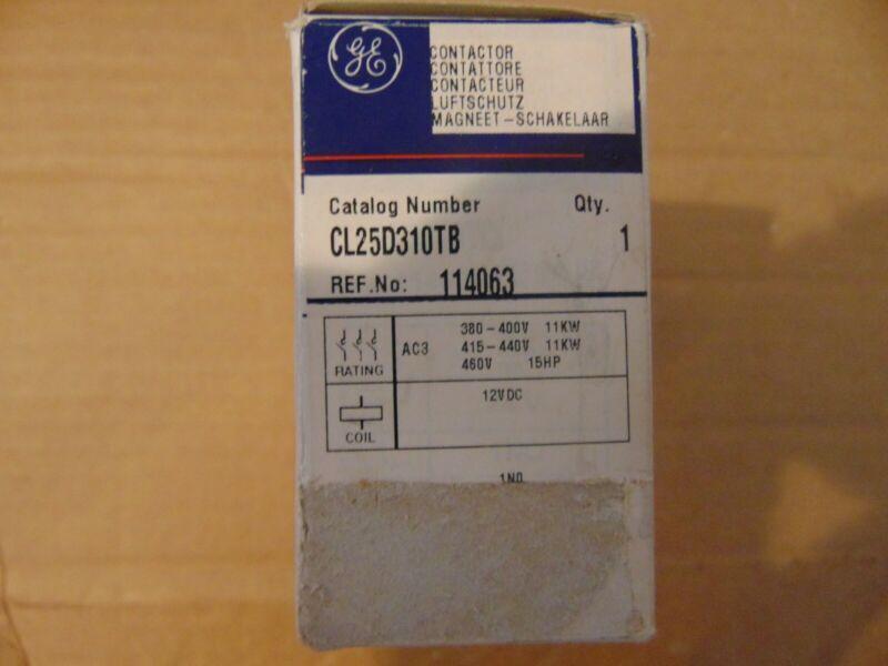 GE Contactor CL25D310TB 12 VDC Coil