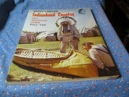 ksm. Wisconsin Indianhead Country 1971 Vacation Guide Tourist Spots Adv 225 Page