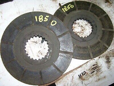 Vintage Oliver 1850 Gas Row Crop Tractor - 2 Brake Disc Set - Nice -1969