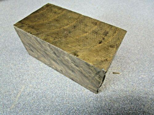 "BRONZE 1.6"" X 1.7"" X 3.3"" Rectangle Bar Solid Mill Stock 2.7 Lbs. 954? Cut Off"