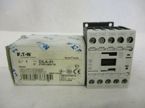 NEW EATON MOELLER DILA-31 CONTACTOR 24VDC DC24V COIL