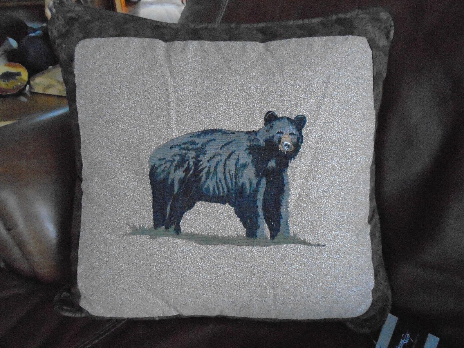 Donna Sharp Black Bear  Woodland Lodge Cabin Throw Pillow Ru