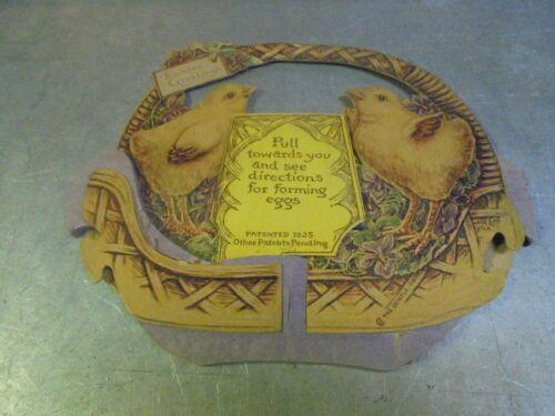 Vintage 1925 Beistle Easter Greetings Basket with eggs Honeycomb Tissue Art