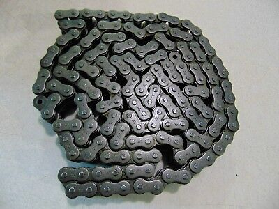 REX Rexnord Double 60 Roller Chain USA Riveted 10' Roll