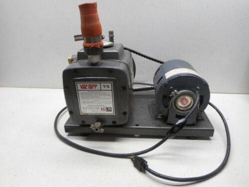 Vactorr 75 vacuum pump GE MOTOR  BR