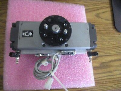 Smc Pneumatics Model Ncdra1bs50-190c Rotary Actuator With 2 D-a54 Sensors