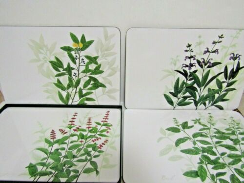"Set of 4 Jason New Zealand Kitchen Herbs Placemats 11.5"" x 17"""