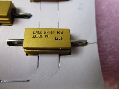 10 New Vishay Dale Rh-10 20k Ohm 110w Aluminum Case Resistors Rh01020k00fc02