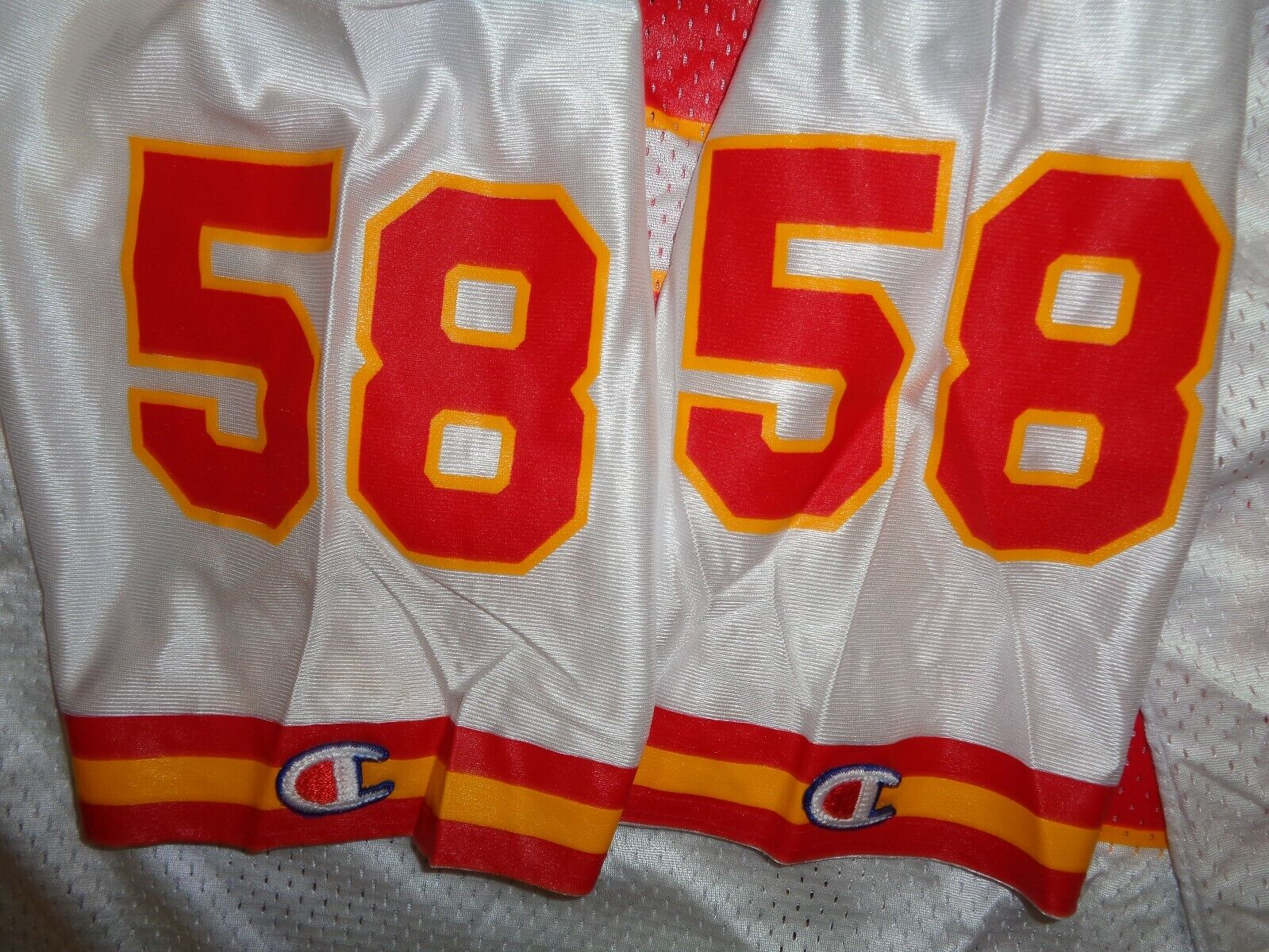 NWT AUTHENTIC DERRICK THOMAS CHAMPION KC KANSAS CITY CHIEFS NFL GAME JERSEY SZ L - $49.99