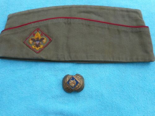 Boy Scout Garrison Cap & Cub Scout Neckerchief -Tie Slide Holder