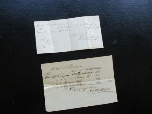 1848-58 Whale Bone with prices for Colonel Wm. Dillard handwritten Documents