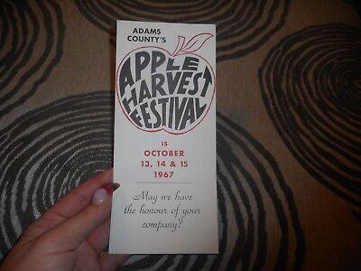 Vintage Brochure Adams County's Apple Harvest Festival 1967 Apple Harvest Festival