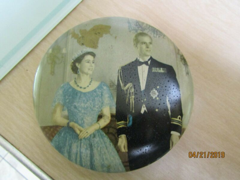 Collectible 1953 Queen Elizabeth Coronation Tin Good Condition