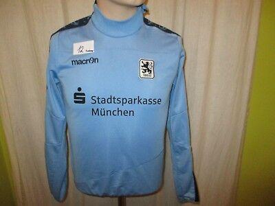 TSV 1860 München macron Spieler Freizeit Sweatshirt/Pullover + Sponsor Gr.152
