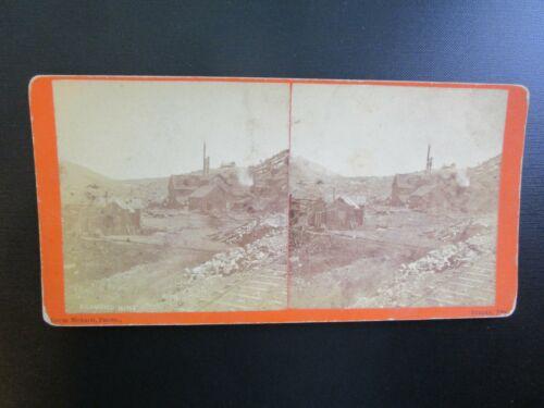 "EUREKA, NV. - Early Stereoview - ""Richmond Mine"" - 1870"