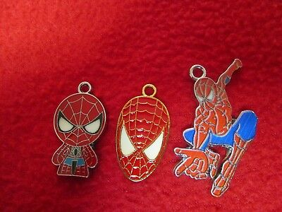 Three Spiderman Charms Jewelry Making Legos - Make your Own Jewelry marvel comic](Spiderman Jewelry)