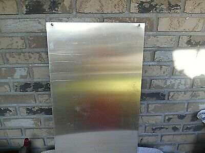 Stainless Steel Sheet Metal Stock 16 X 25-12 X 1 Mm Thick With 4 Screw Holes