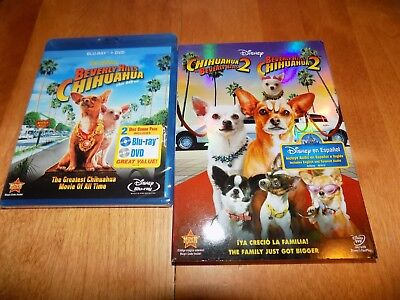 BEVERLY HILLS CHIHUAHUA 1 & 2 Blu-Ray / DVD + Chihuahua 2 in DVD Only SET (Only In Beverly Hills)