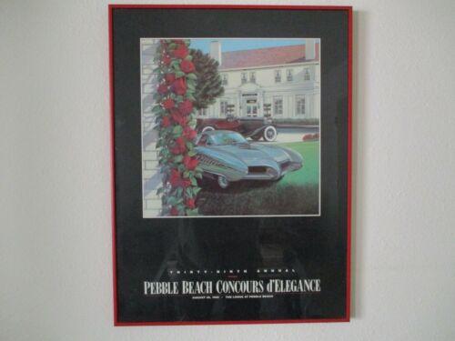 1989 Original 39th Annual PEBBLE BEACH CONCOURS POSTER
