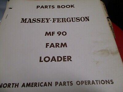 Massey Ferguson Mf 90 Farm Loader Parts Book Manual