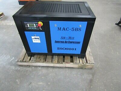 Air-max 5hp. 1 Ph. Industri Rotary Screw Air Compressor 12 Year Air-max Warranty