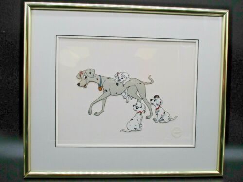 Disney Sericel Limited Edition 101 Dalmatians Perdita and Her Pups Framed 1000