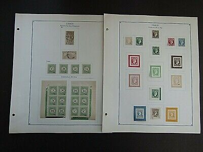 GREECE - FINE COLLECTION OF EARLY FOURNIER FORGERIES ON ORIGINAL PAGES