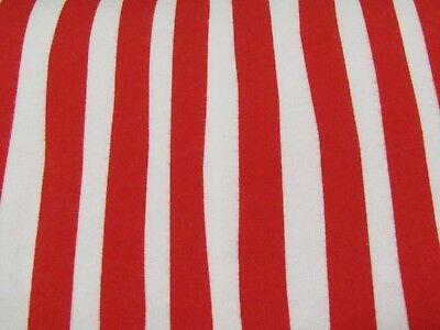 Celebrate Dr. Seuss Ruby White Striped Robert Kaufman  FLANNEL Fabric 1/2 YARD