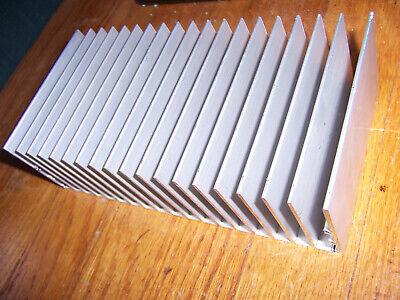 Large Flat-bottom Aluminum Heatsink 7.25 X 3 18 X 2 18 X 8 X 5 Cm